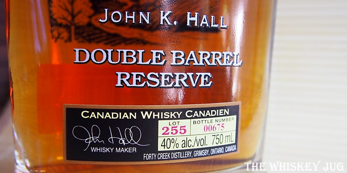 Forty Creek Double Barrel Select Label