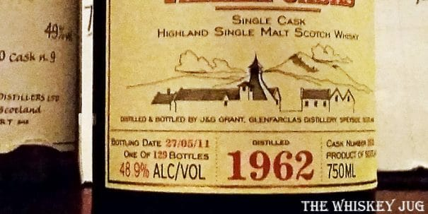 Glenfarclas Family Casks 1962 Label