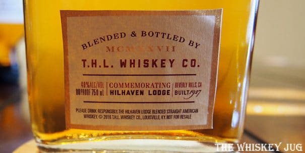 Hilhaven Lodge Whiskey Label