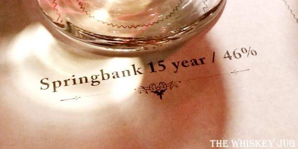 Springbank 15 Label