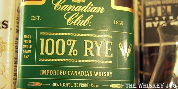Canadian Club 100% Rye Label