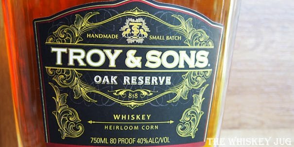 Troy and Sons Oak Reserve Label