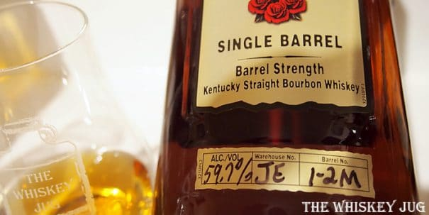 Four Roses Single Barrel JE 1-2M Label