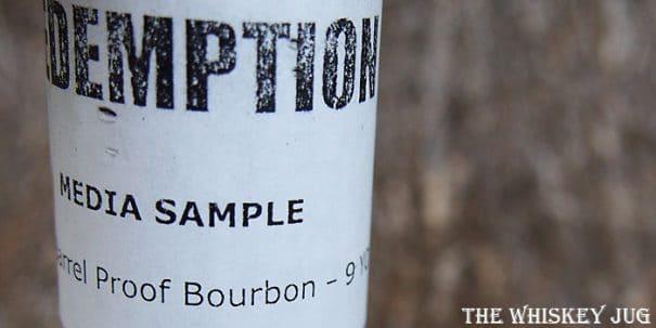 Redemption Barrel Proof Bourbon Label