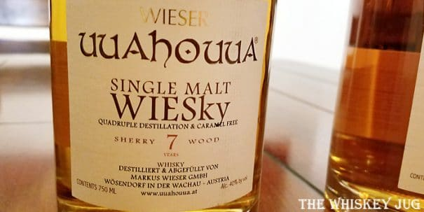 Uuahouua Sherry Wood Single Malt Label