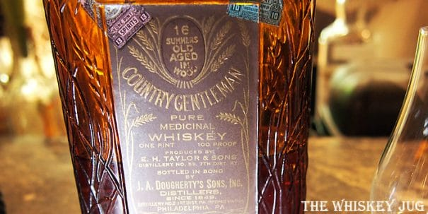 Country Gentleman Medicinal Pint Label