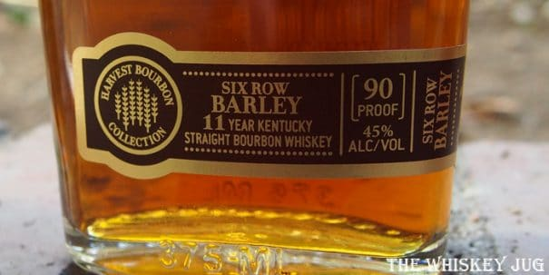 jim beam six row barley harvest bourbon label