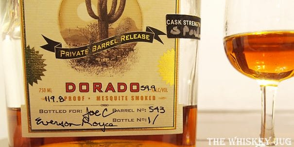 Del Bac Dorado Single Barrel Label