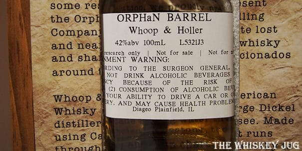 Orphan Barrel Whoop and Holler Label