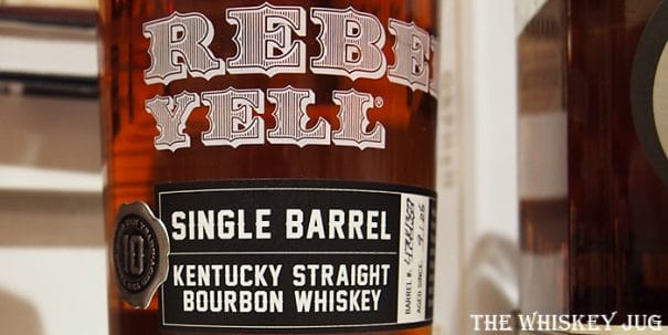 Rebel Yell Single Barrel Label