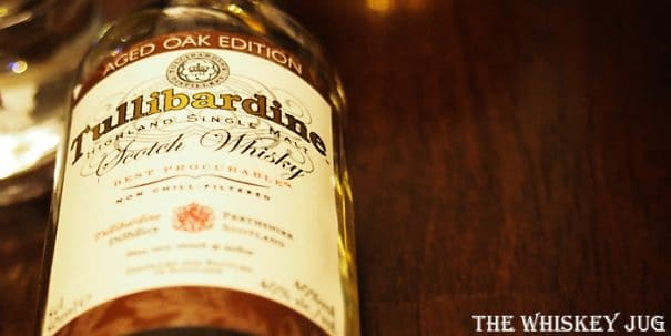 Tullibardine Aged Oak Edition Label