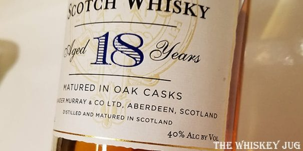 1993 Trader Joe's Speyside 18 Years Label