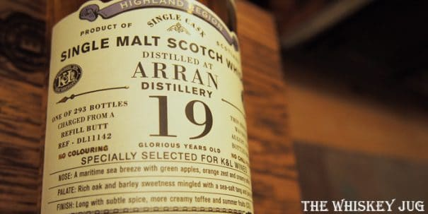 1996 Old Particular Arran 19 Label