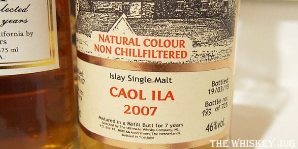2007 The Ultimate Caol Ila 7 Years Label