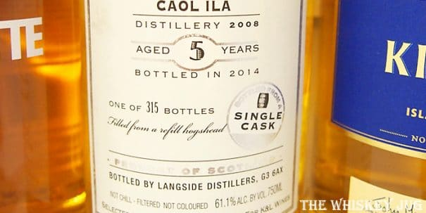 2008 Hepburn's Choice Caol Ila 5 Years Label