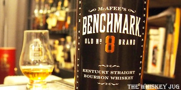 McAfee's Benchmark Old No 8 Bourbon Label
