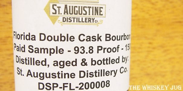St Augustine Double Cask Bourbon Label