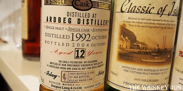 1992 Old Malt Cask Ardbeg 12 Years Label
