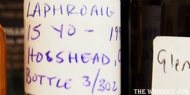 1996 Signatory Vintage Laphroaig 15 Years Label