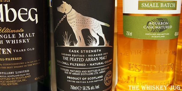 Arran Machrie Moor Cask Strength Label