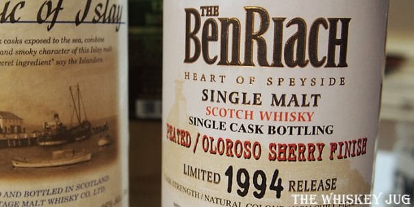 BenRiach Peated Oloroso Single Cask Label