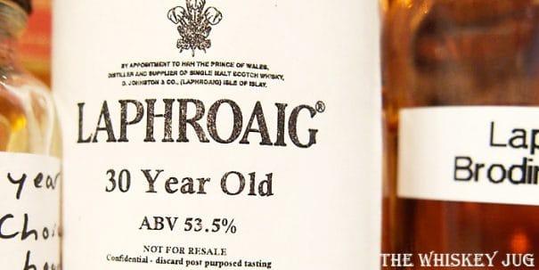 Laphroaig 30 Label