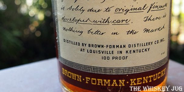 1943 Old Forester Bottled In Bond Label