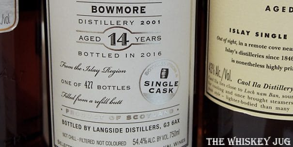 2001 Hepburn's Choice Bowmore 14 Years Label