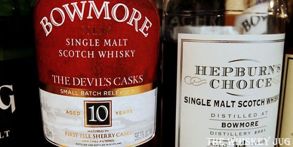 Bowmore Devil's Casks Batch 2 Label
