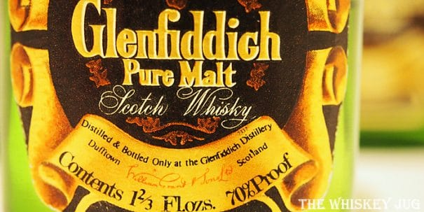 Early 1970s Glenfiddich Label