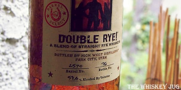 High West Double Rye Boulevardier Finish Label