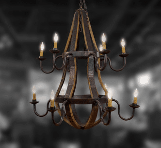 12 Light Two Tier Chandelier