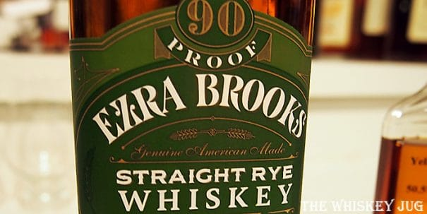 Ezra Brooks Rye Label