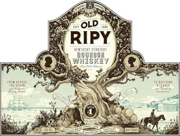 Old Ripy Bourbon Label