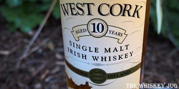 West Cork Single Malt 10 Years Label