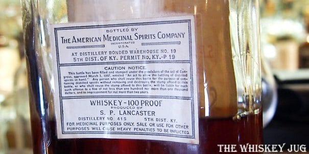S P Lancaster Medicinal Pint Label