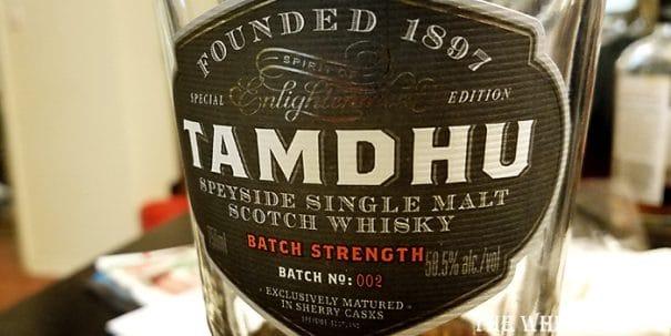 Tamdhu Batch Strength Label