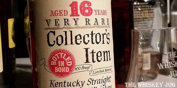 16 Year Old Collector's Item Bourbon Label