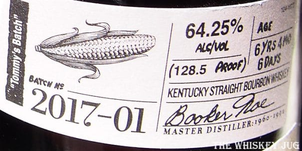Booker's Bourbon Tommy's Batch Label