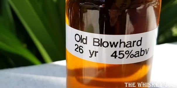 Old Blowhard Bourbon Label