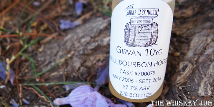 2006 Single Cask Nation Girvan 10 Years Label