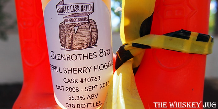 2008 Single Cask Nation Glenrothes 8 Years Label