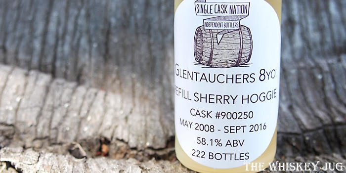 2008 Single Cask Nation Glentauchers 8 years Label
