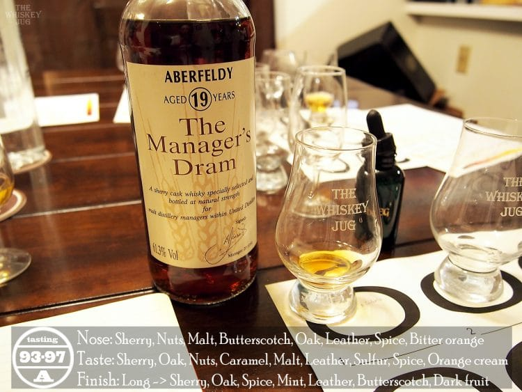 Aberfledy 19 Years Manager's Dram Review