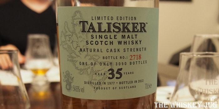 Talisker 35 Label