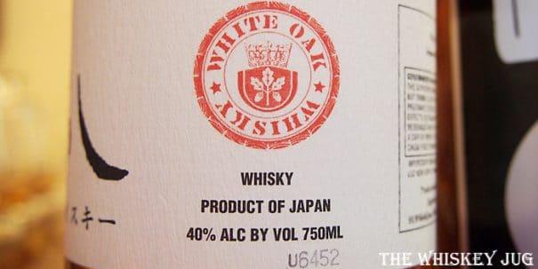 White Oak Akashi Blended Whisky Label