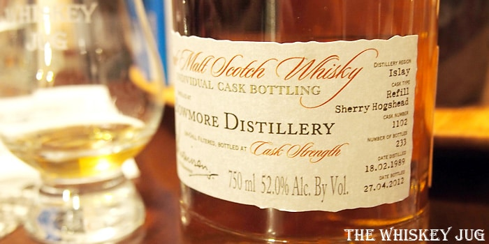 1989 A.D. Rattray Bowmore 23 Years Label