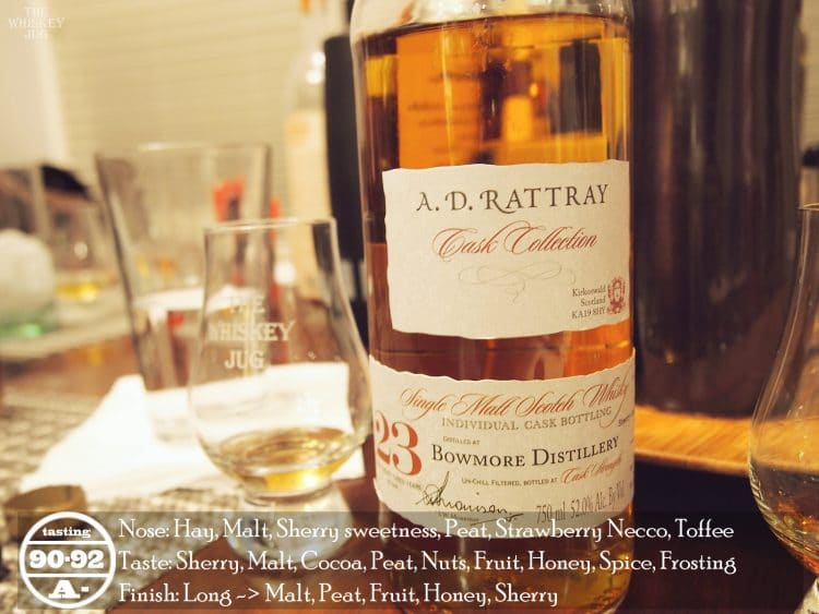 1989 A.D. Rattray Bowmore 23 Years Review
