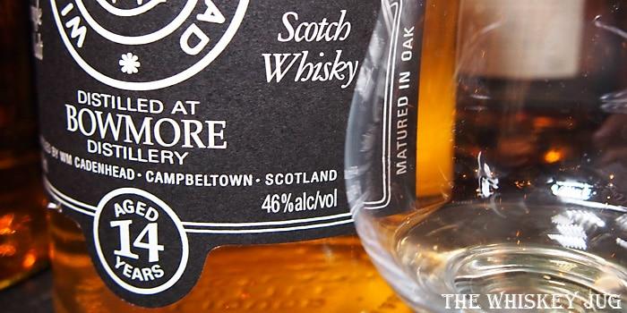 Bowmore 14 Cadenhead's Label