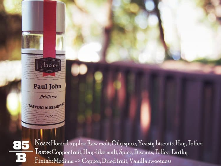 Paul John Brilliance Single Malt Review